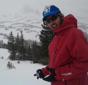 Frederick pimpin his new Flylow Quantum jacket at Butler Gulch Nov 11, 2011