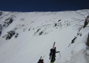 From almost at the top of the headwall