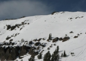 East face of Relay Peak. Pretty weak pack this year. Pic taken 2-23-12