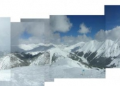 Panorama of Loveland Pass (South Side) From the Top of Arapahoe Basin Ski Area
