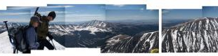 A panorama view from the top of quandry