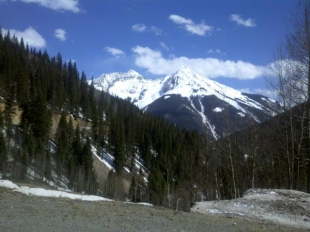 Some of the peaks around the town of silverton