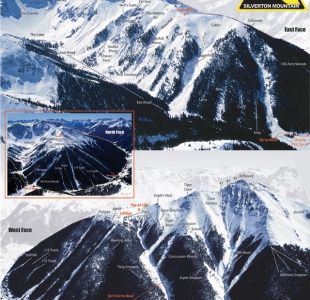 This trail map is taken from Silverton Mountain Ski Area's